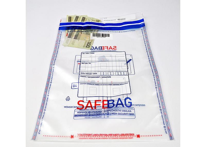 Koperty bezpieczne B4 transparentne