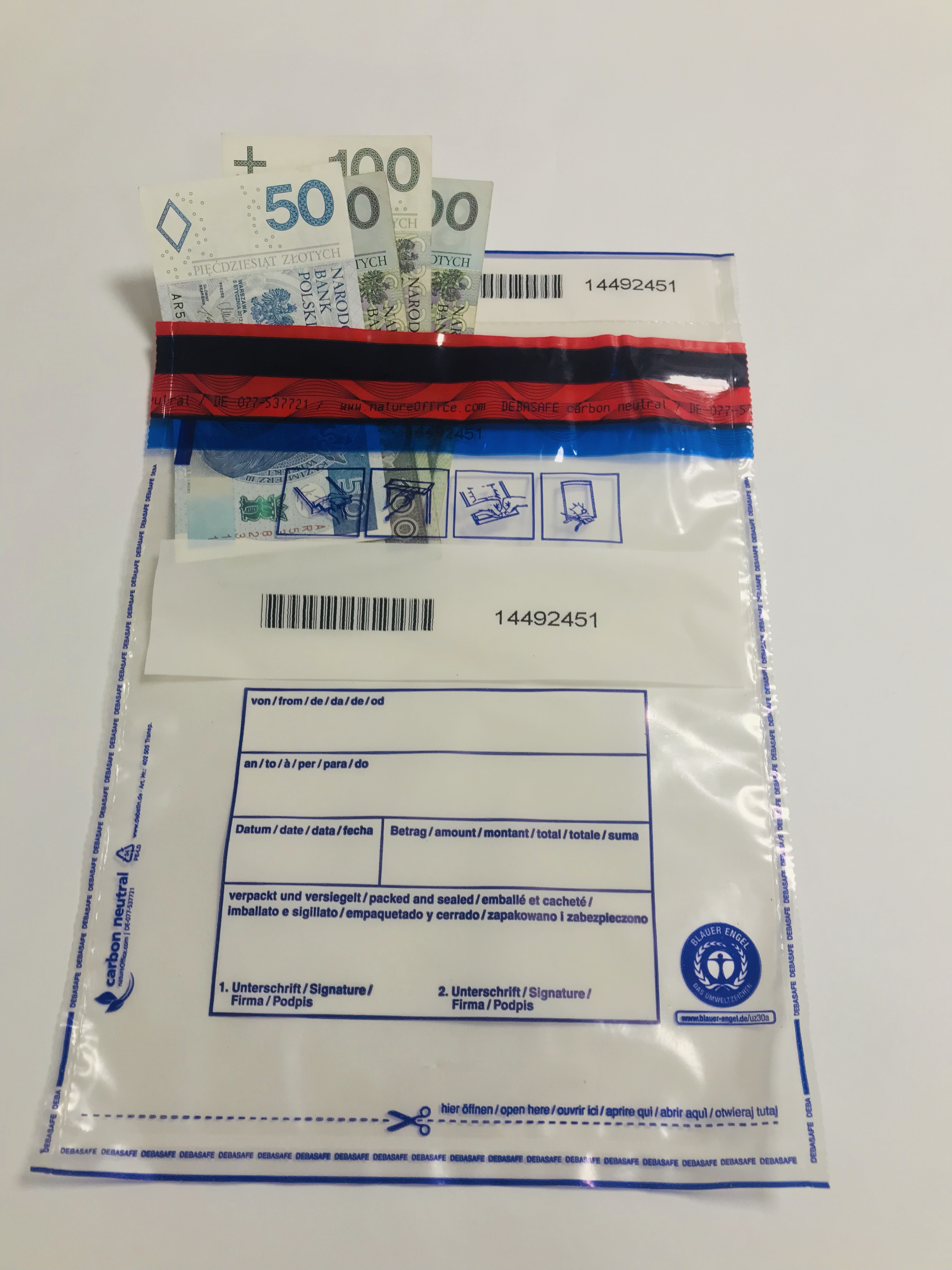 Koperty DebaSafe B5 Transparentne