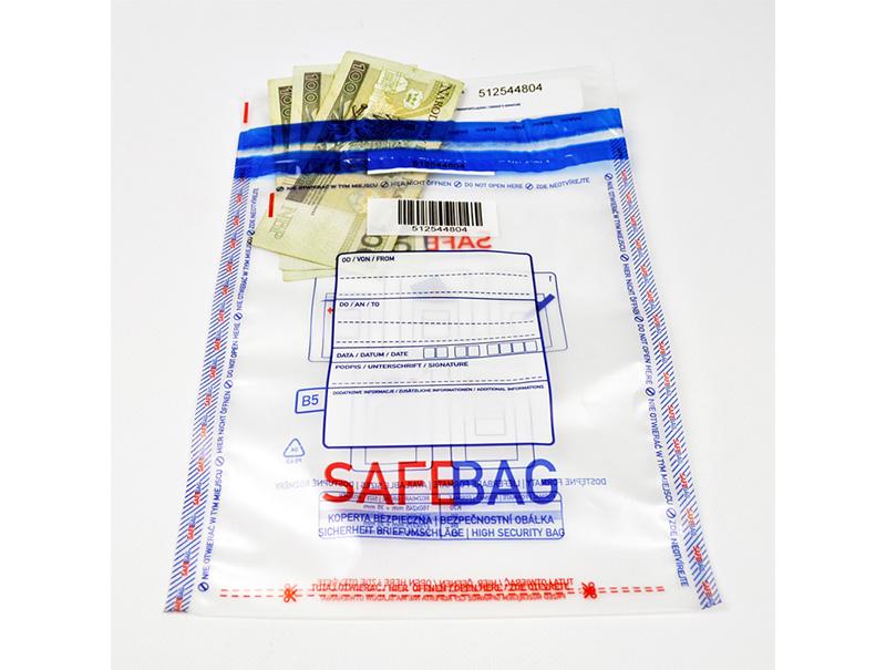 Koperty bezpieczne B5 transparentne